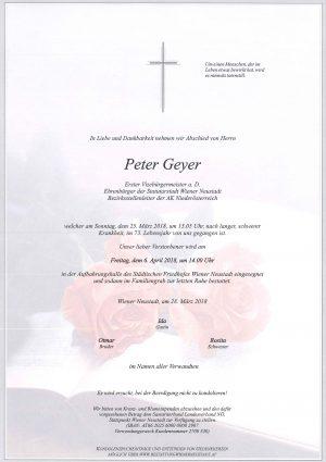 Portrait von Geyer Peter