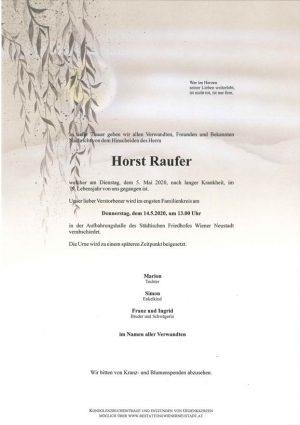 Portrait von Horst Raufer
