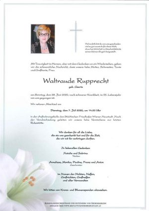 Portrait von Waltraude Rupprecht