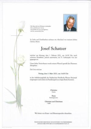 Portrait von Josef Schatzer
