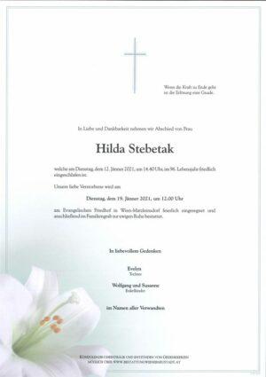 Portrait von Hilda Stebetak
