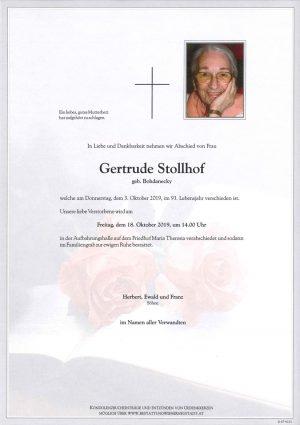 Portrait von Gertrude Stollhof, geb. Bohdanecky