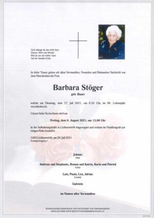 Portrait von Barbara Stöger