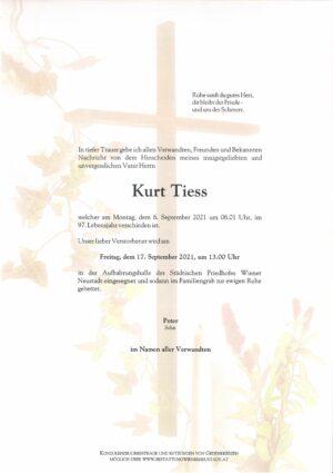 Portrait von Kurt Tiess