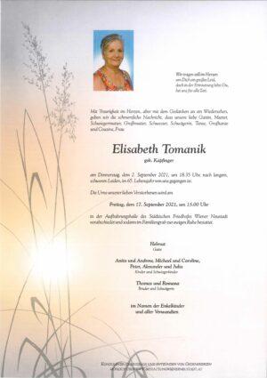 Portrait von Elisabeth Tomanik