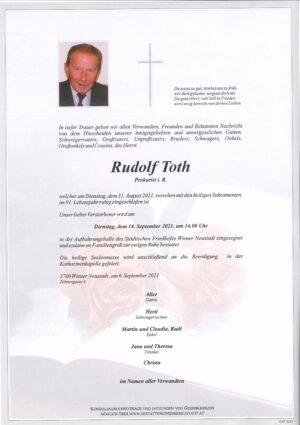 Portrait von Rudolf Toth