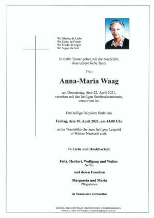Portrait von Anna-Maria Waag