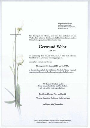 Portrait von Gertraud Wehr