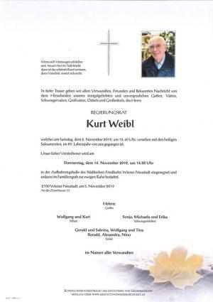 Portrait von Kurt Weibl
