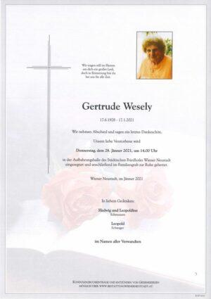 Portrait von Gertrude Wesely
