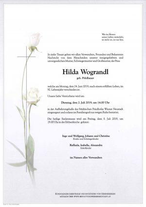 Portrait von Hilda Wograndl