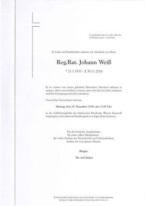 Portrait von Reg. Rat Johann Weiß