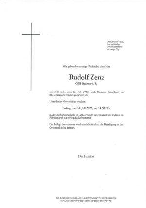 Portrait von Rudolf Zenz