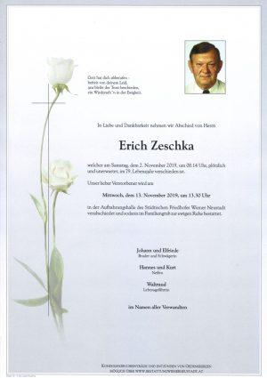 Portrait von Erich Zeschka