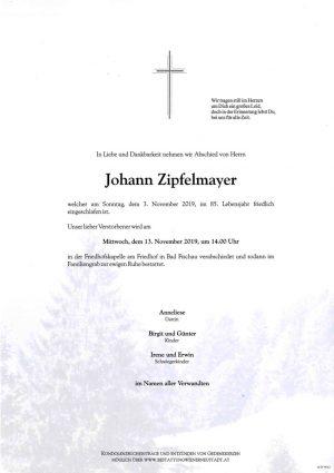 Portrait von Johann Zipfelmayer